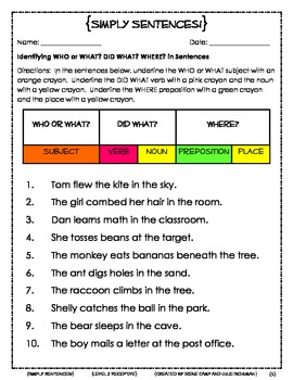 Simply Sentences--To Improve Sentence Comprehension and Sentence Formulation