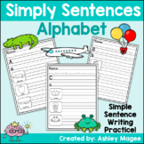 Simply Sentences - Alphabet - No Prep Letter and Sentence