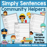 Simply Sentences - Community Helpers - No Prep Sentence Wr