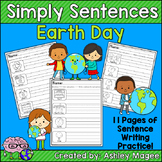 Simply Sentences - Earth Day - No Prep Writing Practice
