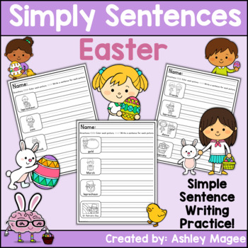 Simply Sentences - Easter - No Prep Writing Practice