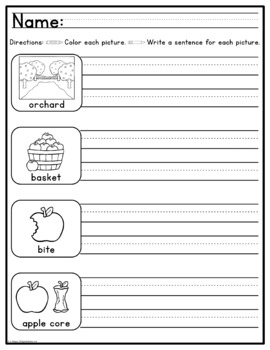 Simply Sentences - Fall - No Prep Writing Practice