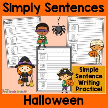 Simply Sentences - Halloween - No Prep Writing Practice