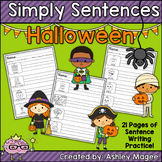 Simply Sentences - Halloween - No Prep Writing Practice