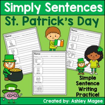 Simply Sentences - St. Patrick's Day - No Prep Writing Practice