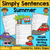 Simply Sentences - Summer - No Prep Writing Practice