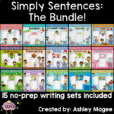 Simply Sentences: The Bundle - No Prep Sentence and Handwriting Practice
