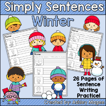 Simply Sentences - Winter - No Prep Writing Practice