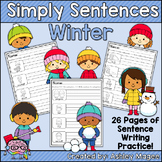 Simply Sentences - Winter - No Prep Writing Practice