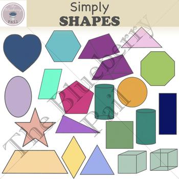 Simply Shapes Clip Art Set (chalkboard, bright, & pastel colors)