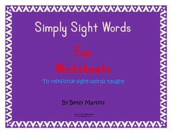 Simply Sight Words