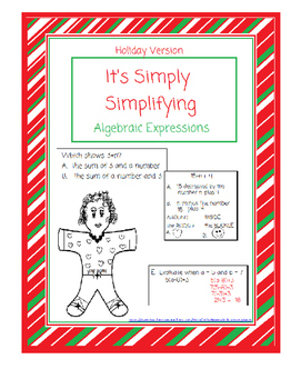 Simply Simplifying!  Substitute and Solve Algebraic Expressions