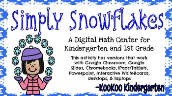 Simply Snowflakes-A Digital Math Center (Teen Numbers)