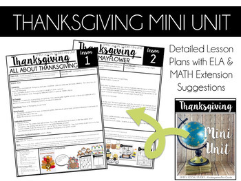 Simply Social Studies K/1-Thanksgiving Then & Now / Traditions Mini Unit