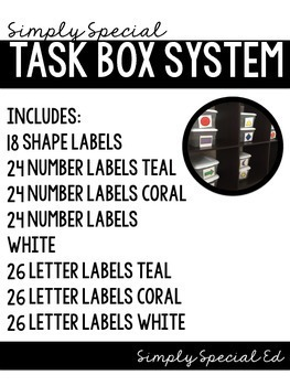 Simply Special Task Box System: For Autism and Special Education Classrooms