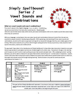 Vowel Sounds and Combinations - Simply Spellbound! series 2 (grades 3, 4, 5)