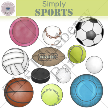 Simply Sports Clip Art Set