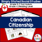 Canadian Citizenship:  Simply Stated for Differentiated Instruction