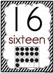 Simply Stripes | Black & White | Number Poster Set