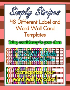 Simply Stripes: Frame, Cover, Word Wall & Label Pack!