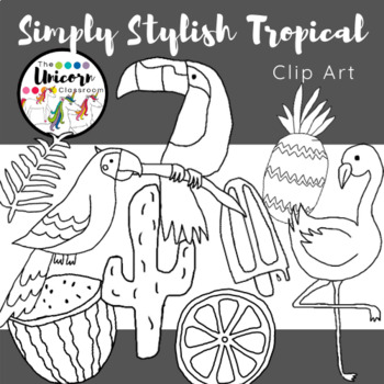 Simply Stylish Tropical Clip Art by The Unicorn Classroom ...