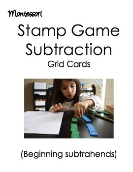Montessori Stamp Game (Subtraction)