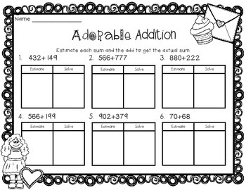 Valentine's Day Math Printables and Activities