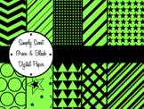 Simply Sweet Green and Black Digital Paper Pack