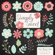 Simply Sweet Vector Flowers & Stems Clipart in Mint & Coral