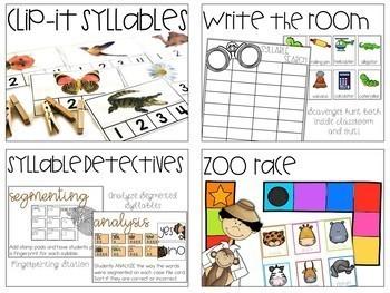 Syllables Activities Bundle