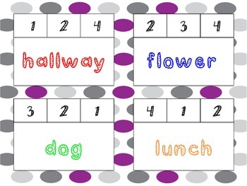 Simply Syllables Count & Clip Task Cards