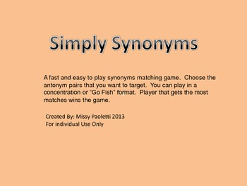 Simply Synonyms