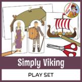 Simply Viking Play Set - Craft, Paper Dolls, Diorama