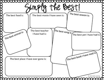 Simply the Best!  What do your students think is the best...