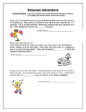 Simpson Adventure- Multiplying and Dividing Fractions and