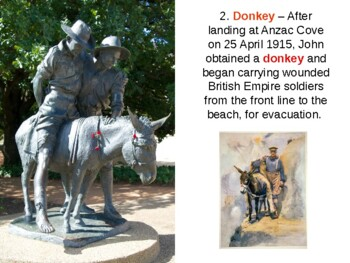 Simpson and His Donkey - Gallipoli World War One