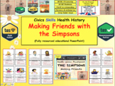 Simpsons - Making friends - Life skills (Social and emotional health)