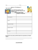 """""""Simpsons"""" Science Experiment Variables Examples Worksheet"""