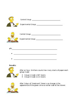 Simpsons Scientific Method Guided Notes Packet