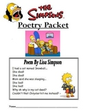Simpsons Themed Poetry Packet (Excellent for figurative la