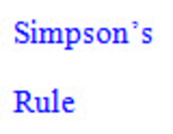 Simpson's rule example