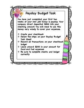 Simulation Station-Payday Budgeting-Economics Activity