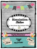 Simulation Station-Payday Budgeting-Economics Activity