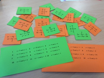 Simultaneous Equations Relay Race
