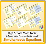 Simultaneous Equations for High School Math Powerpoint
