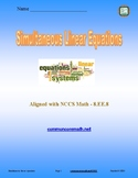 Simultaneous Linear Equations - 8.EE.8