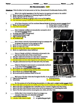 Sin City Film (2005) 15-Question Multiple Choice Quiz