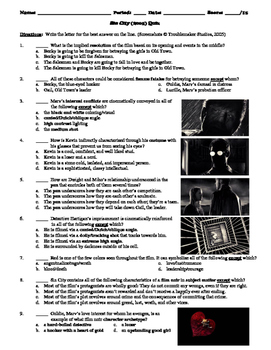 Sin City Film (2005) 15-Question Multiple Choice Quiz
