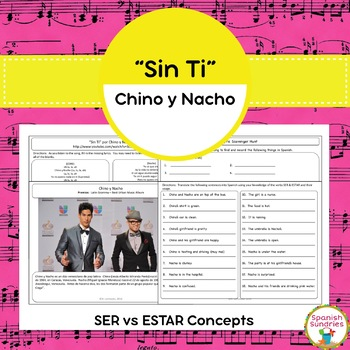 """Sin Ti"" & Ser vs. Estar Concepts"