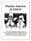 Puritan America Justice - The Scarlet Letter & The Crucible Novel Study